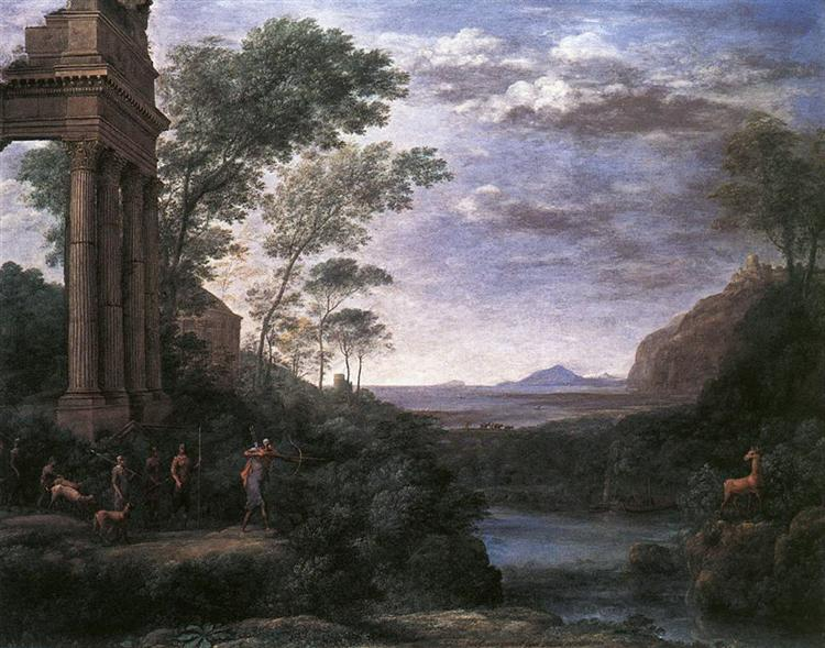 Landscape with Ascanius Shooting the Stag of Sylvia, 1682 - Claude Lorrain