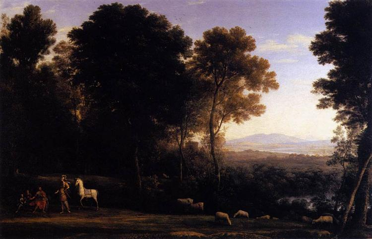 Landscape with Erminia in Discourse with the Old Man and his Sons, 1666 - Claude Lorrain