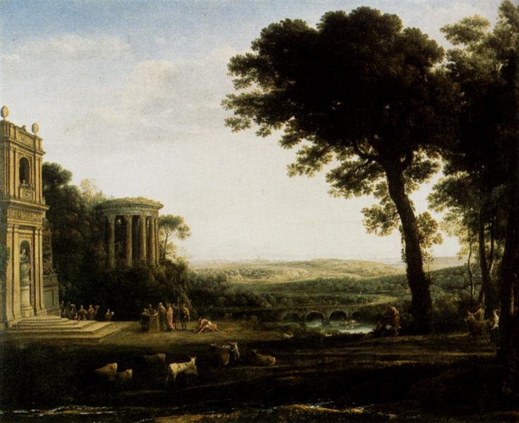 The father of Psyche sacrificing at the Temple of Apollo, 1663 - Claude Lorrain