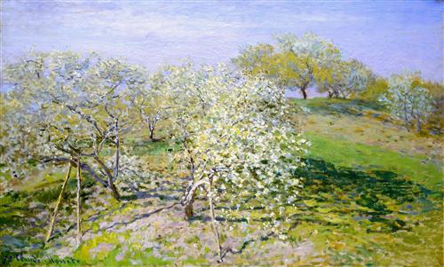 Apple Trees in Bloom - Claude Monet