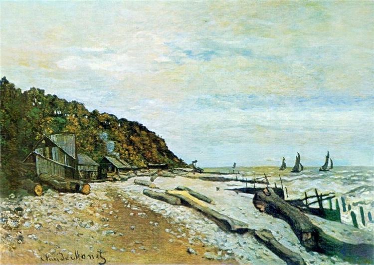 Boatyard near Honfleur - Claude Monet