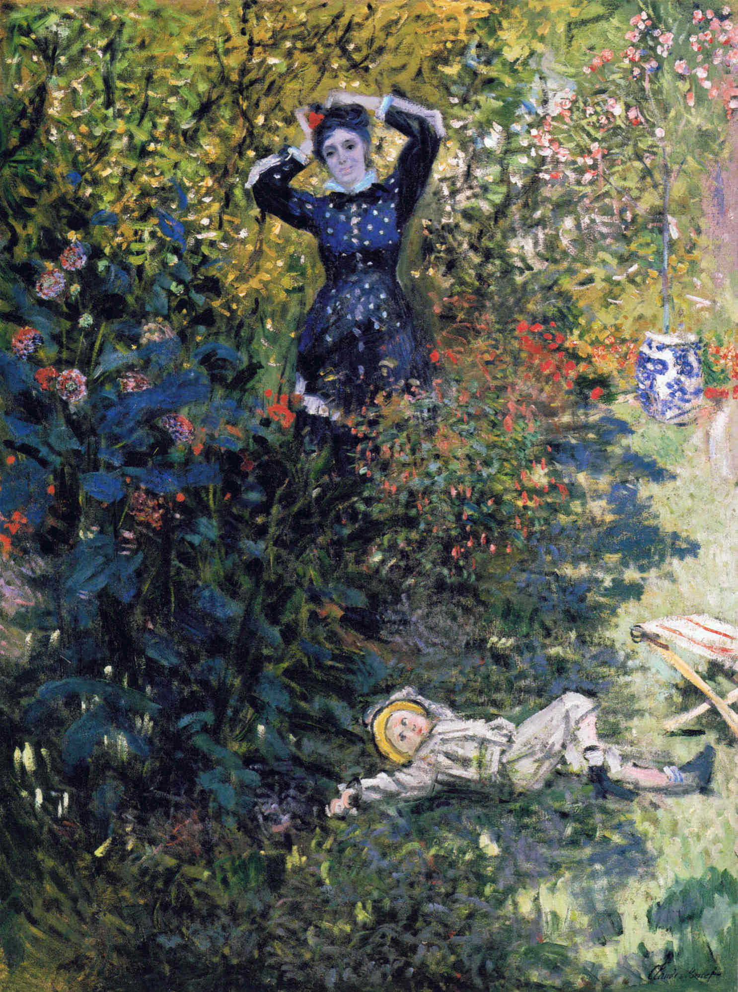 Camille and jean monet in the garden at argenteuil 1873 for Au jardin de jean pierre