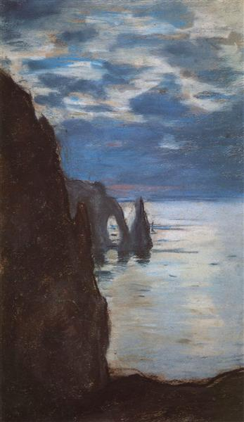 Etretat, the Needle Rock and Porte d'Aval, 1885 - Claude Monet