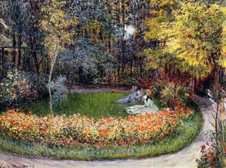 In the Garden, 1875 - Claude Monet