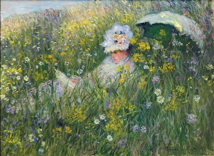In the Meadow - Claude Monet