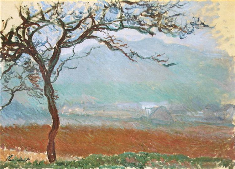 Landscape at Giverny, 1887 - Клод Моне