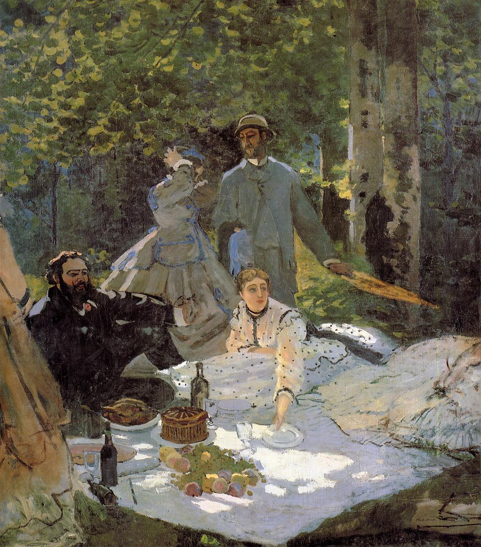 Lunch on the Grass (central panel), 1865
