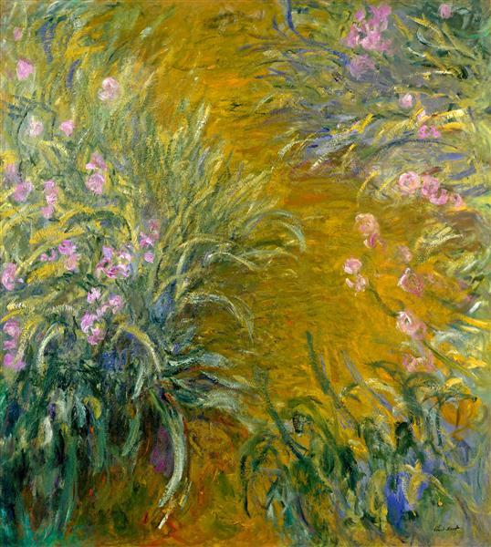 Path through the Irises 01, 1914 - 1917 - Claude Monet