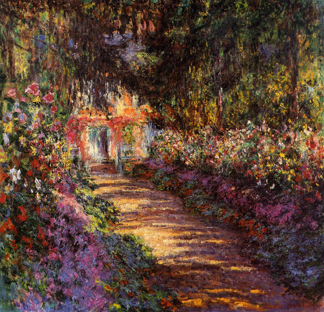 Pathway in Monets Garden at Giverny 1901 1902 Claude Monet