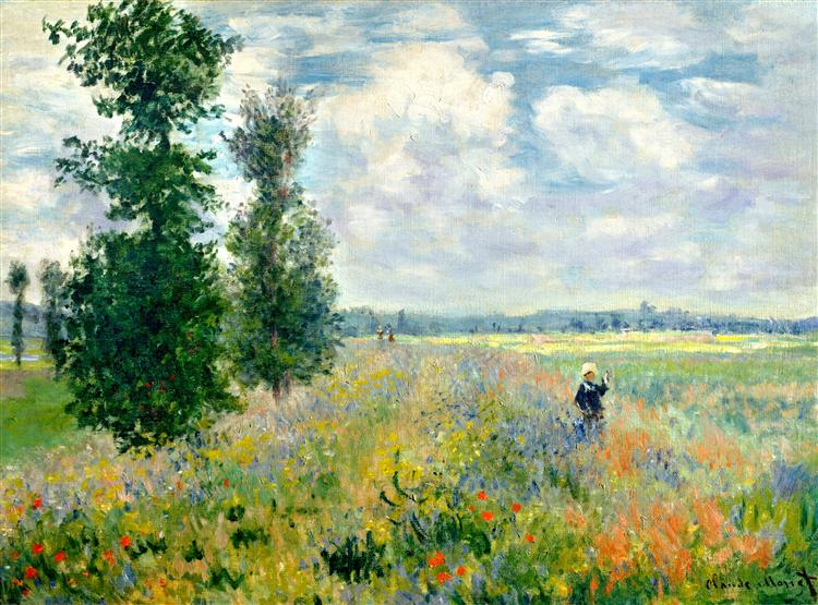 Poppy Field, Argenteuil, 1875 - Claude Monet
