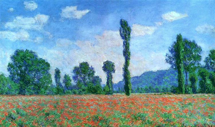 Poppy Field in Giverny, 1890 - Claude Monet