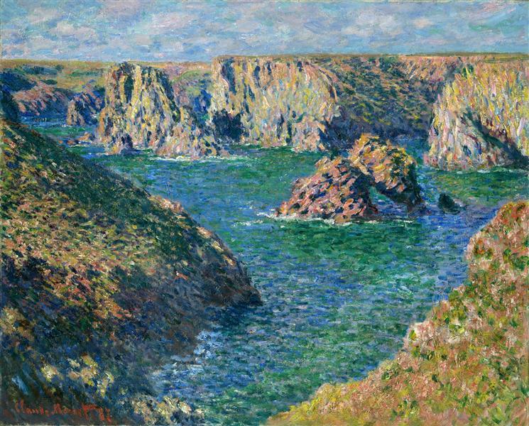 Port Donnant, Belle Ile, 1886 - Claude Monet