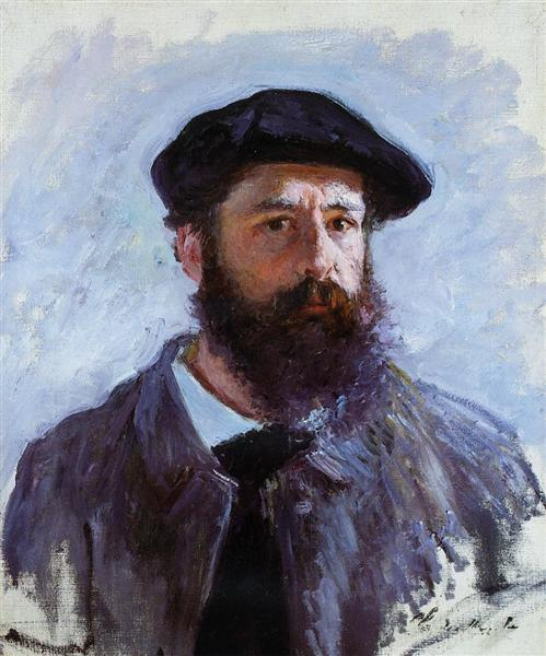 Image result for Self Portrait with a Beret (1886) By: Claude Monet