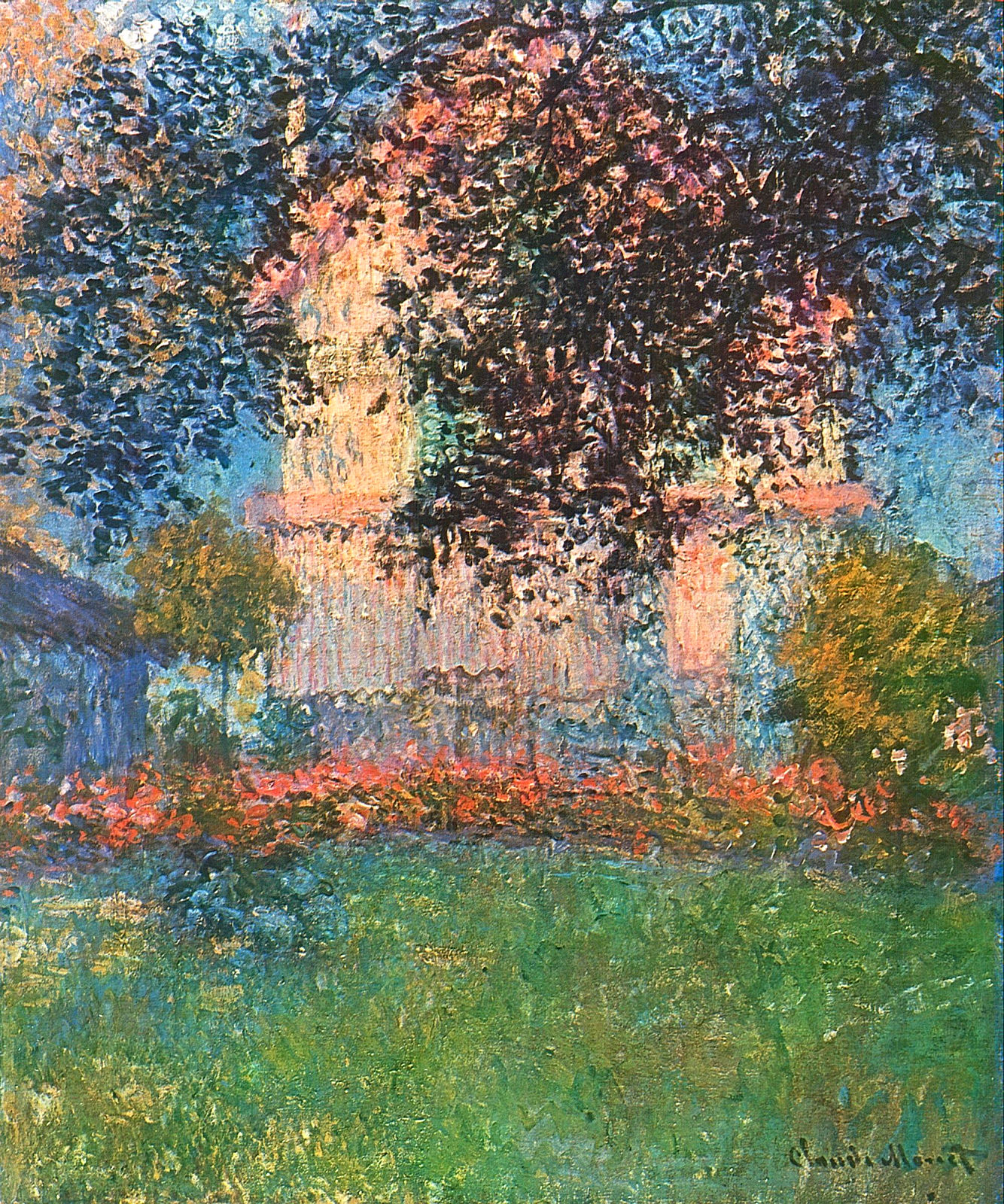 The artist 39 s house in argenteuil claude monet wikiart for Claude monet artwork