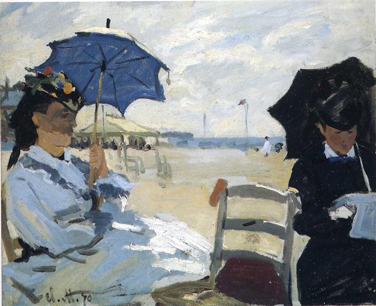 The Beach at Trouville, 1870 - Claude Monet