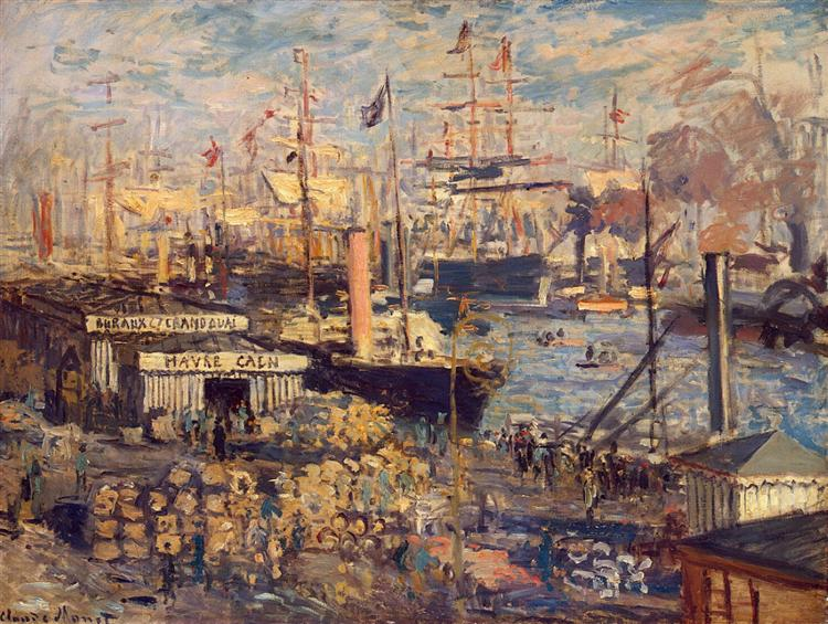 The Grand Dock at Le Havre, 1872 - Claude Monet