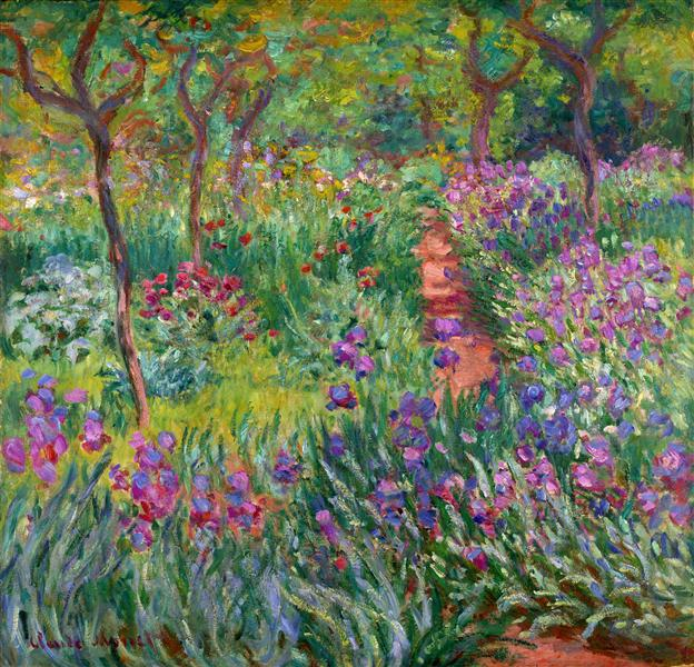 The Iris Garden at Giverny - Monet Claude