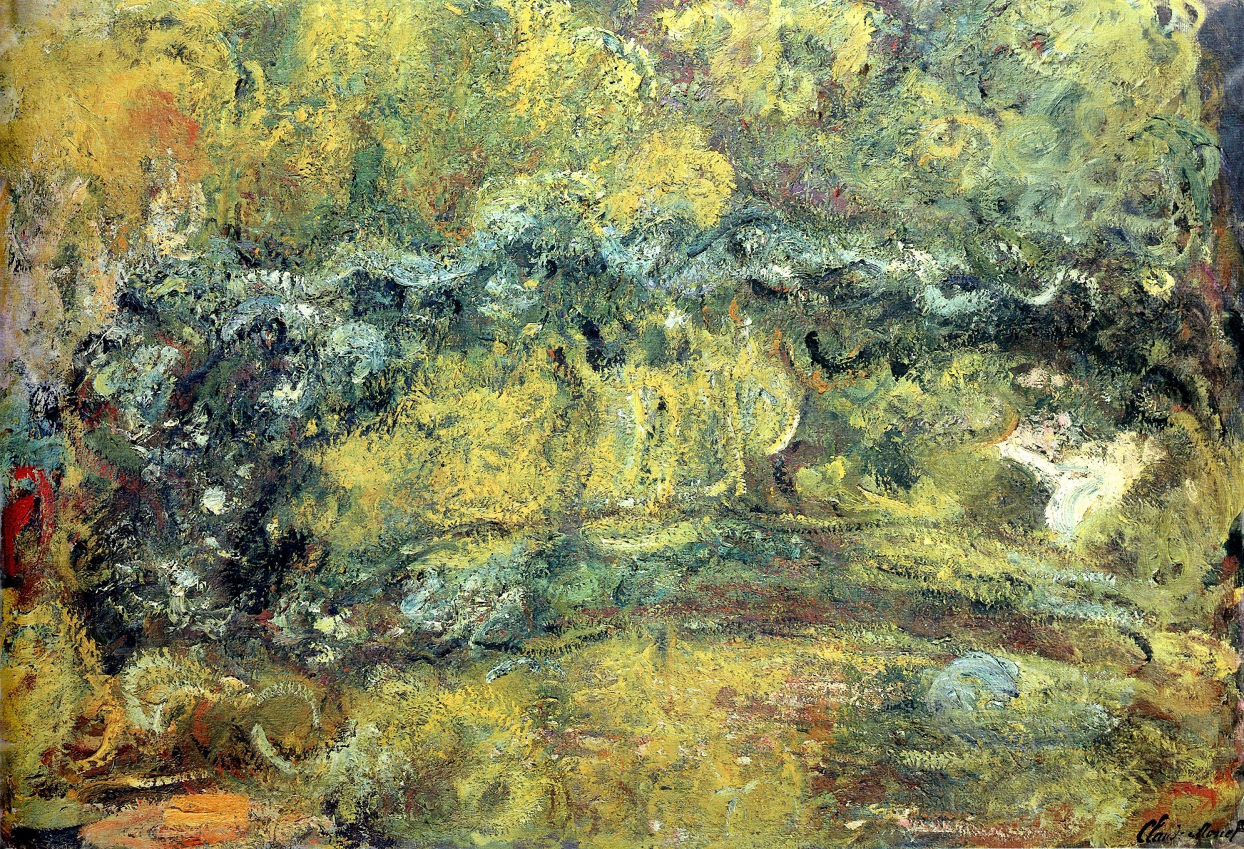 bridge over a pond of water lillies claude monet Waterlily pond, green harmony  upon which white water lilies blossom forth,  claude monet: life and art, new haven:.