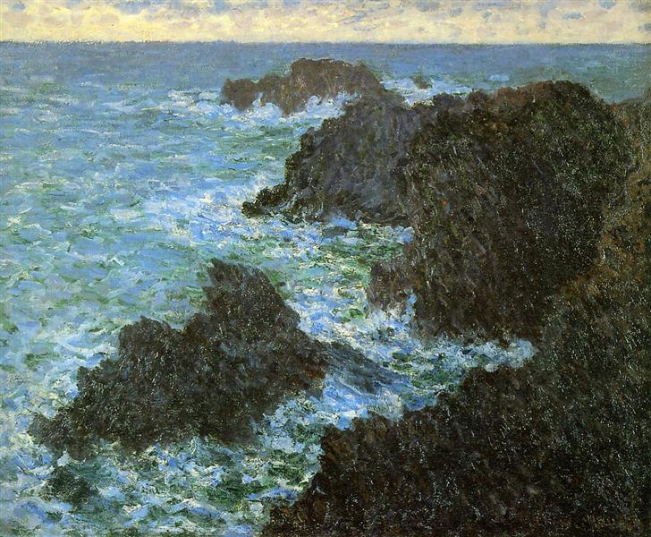 The rocks of Belle-Ile, 1886 - Claude Monet