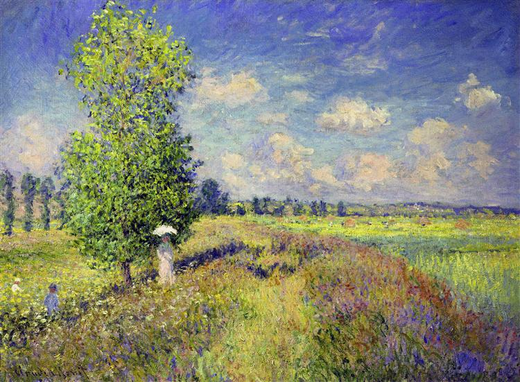 Summer monet The claude poppy field