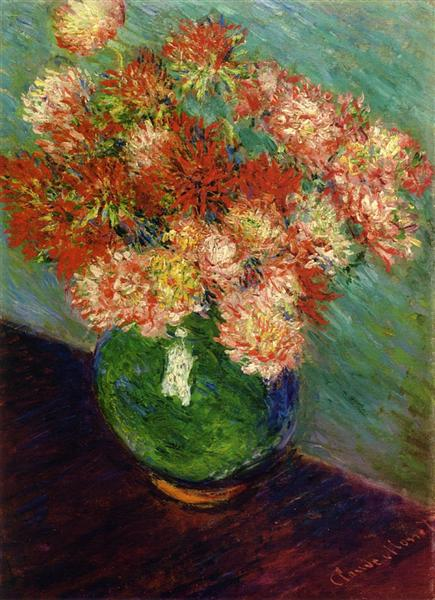 Vase of Chrysanthemums, c.1882 - Claude Monet
