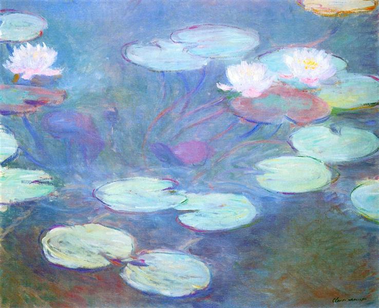 Water Lilies, Pink, 1897 - 1899 - Claude Monet