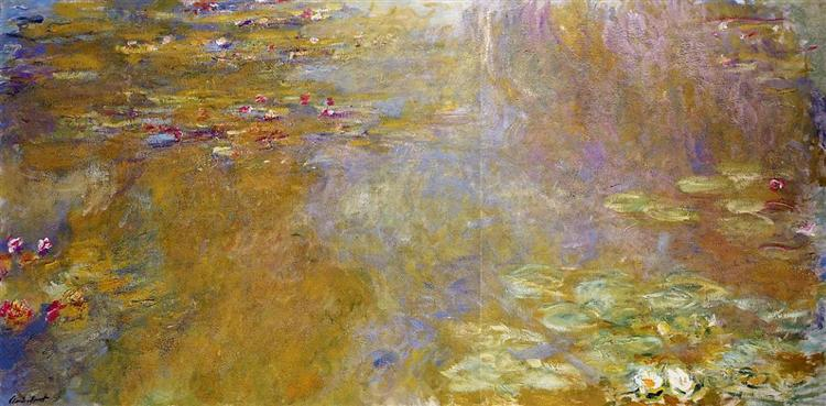 Water Lily Pond, 1917 - 1919 - Claude Monet