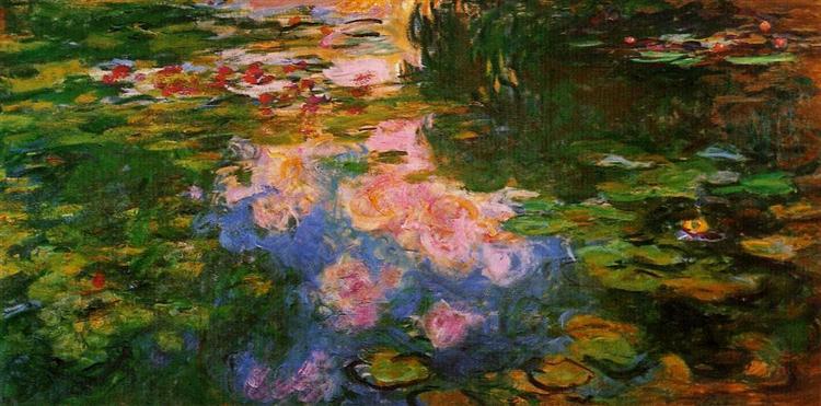 Пруд с водяными лилиями, 1917 - 1919 - Клод Моне