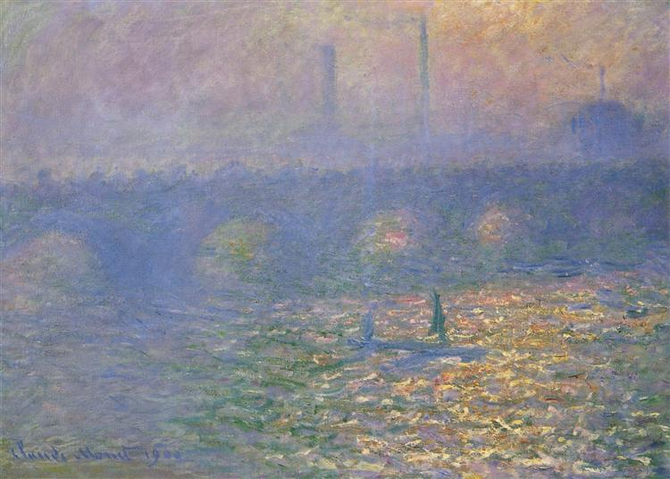 Waterloo Bridge, London, 1900 - Claude Monet