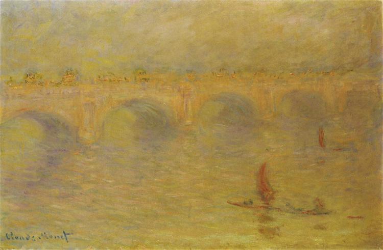 Мост Ватерлоо, эффект солнечного света, 1902 - Клод Моне