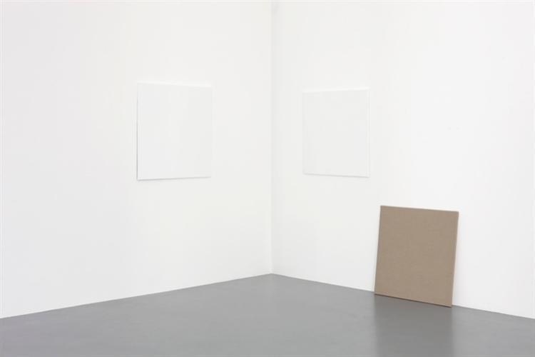 dé-finition/méthode #4: peint / repeint ('la france défigurée' 1969) / non peint, 1973 - Claude Rutault