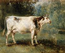 A Cow in a Landscape - Констан Труайон