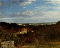A View Towards The Seine From Suresnes - Констан Труайон
