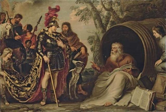 Alexander and Diogenes - Cornelis de Vos