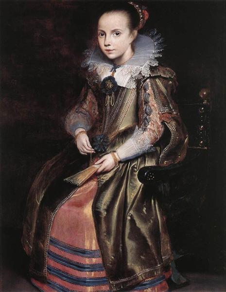Elisabeth (or Cornelia) Vekemans as a Young Girl, 1625 - Cornelis de Vos