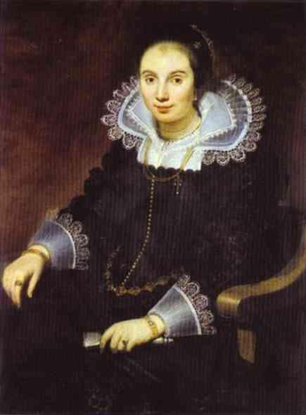 Portrait of a Lady with a Fan - Cornelis de Vos