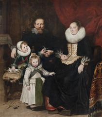 Portrait of the Artist with his Family - Корнелис де Вос