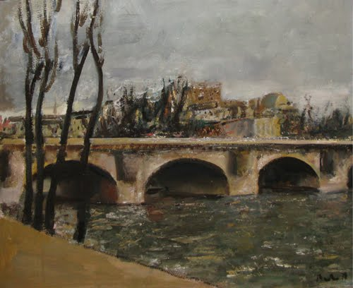 Bridge over Seine, 1979 - Corneliu Baba