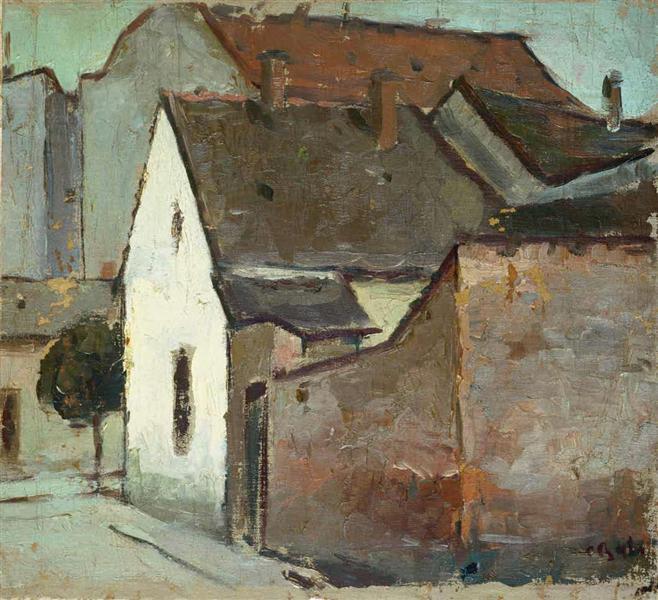 Landscape from Caransebes, 1932 - Corneliu Baba
