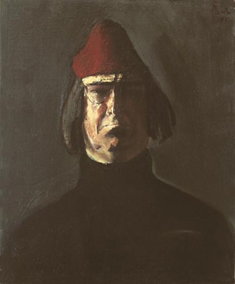 Self-Portrait with Red Fez - Corneliu Baba