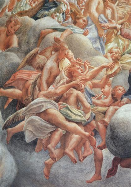 The Assumption of the Virgin (detail), 1522 - 1530 - Correggio