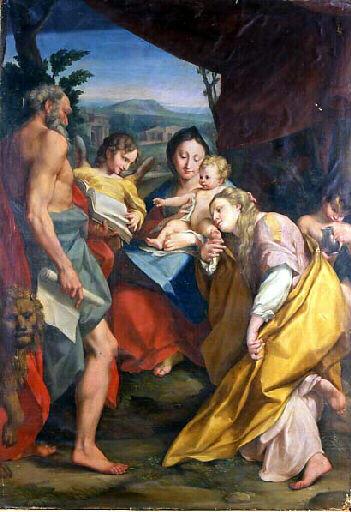The Mystic Marriage of St. Catherine, 1525 - 1528 - Correggio