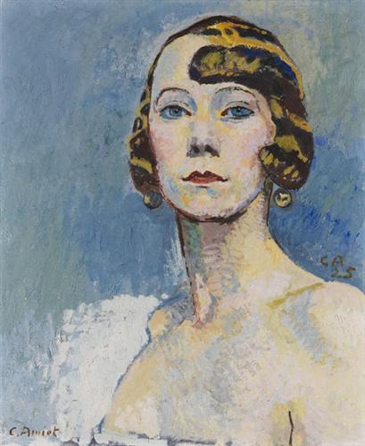 Brustbild einer Dame - Cuno Amiet