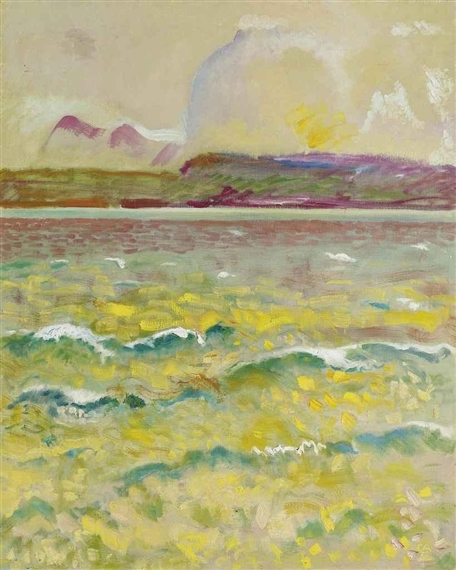Thunersee mit Wellen, 1932