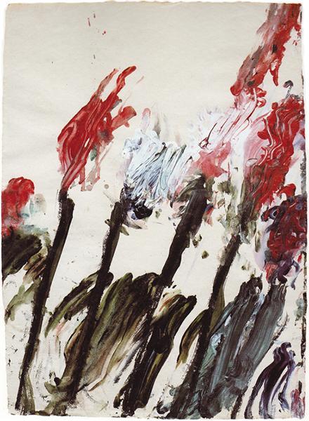 Nicola's Irises, 1990 - Cy Twombly