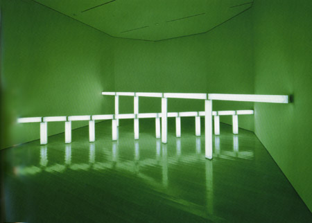 Greens crossing greens (to Piet Mondrian who lacked green), 1966 - Dan Flavin
