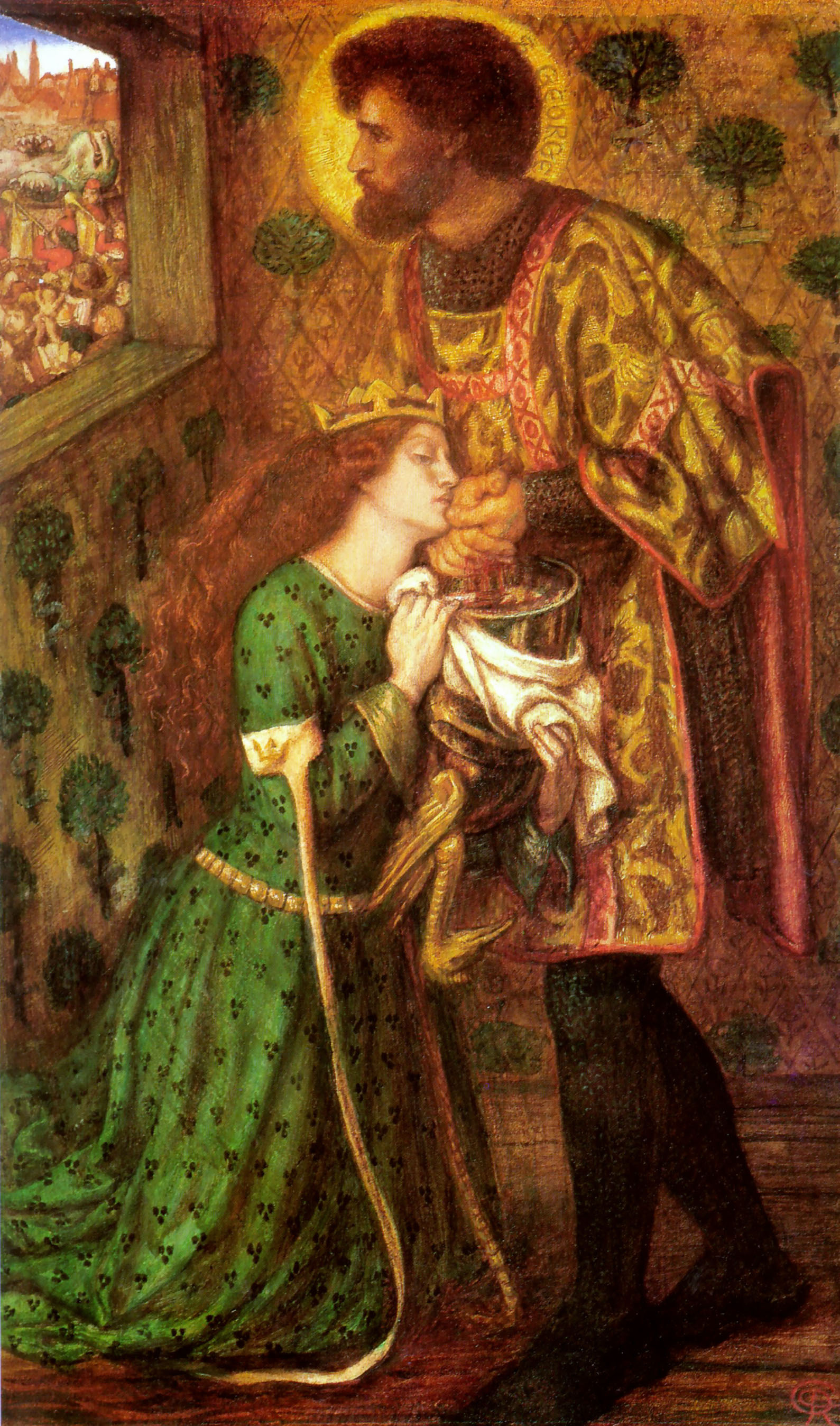 Saint George and the Princess Sabra, 1862