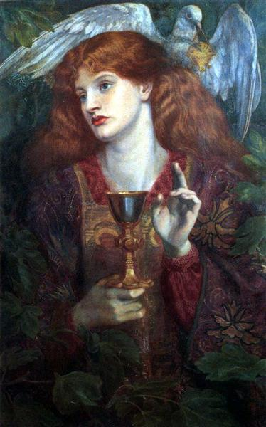 The Damsel of the Sanct Grael or Holy Grail, 1874 - Dante Gabriel Rossetti