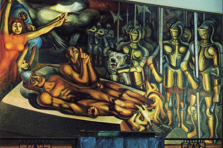 The Torment of Cuauhtemoc, 1950 - David Alfaro Siqueiros