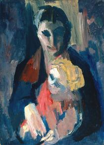 The Artist's Wife and Baby - David Bomberg
